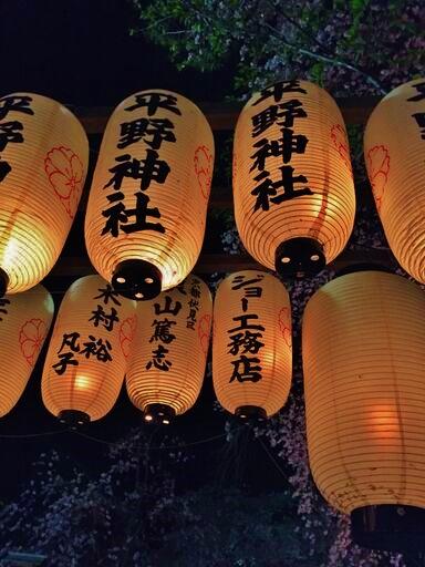 平野神社に提灯